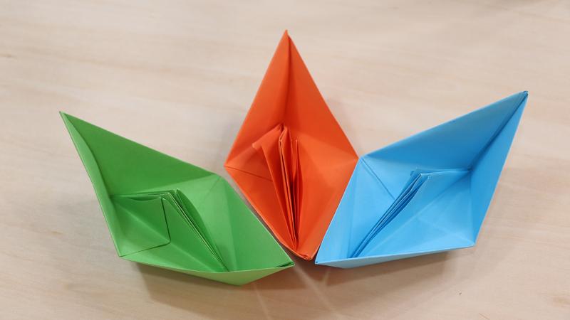 小船的折法