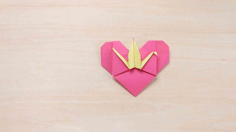 爱心千纸鹤的折法