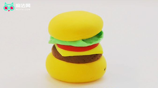 如何用超轻黏土做汉堡