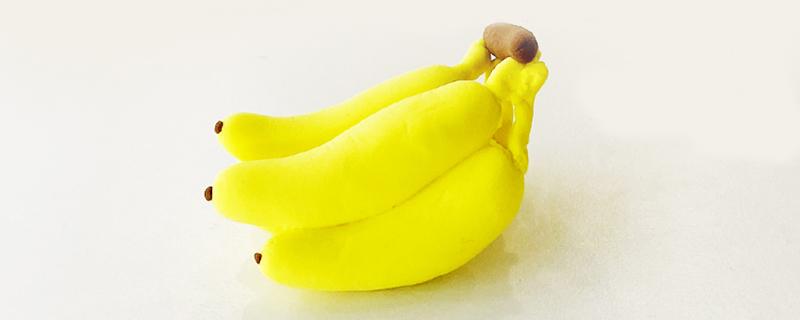 粘土做香蕉怎么做