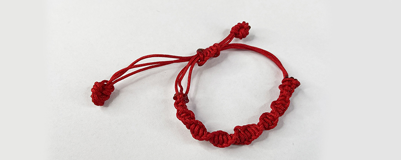 转运红绳手链编法