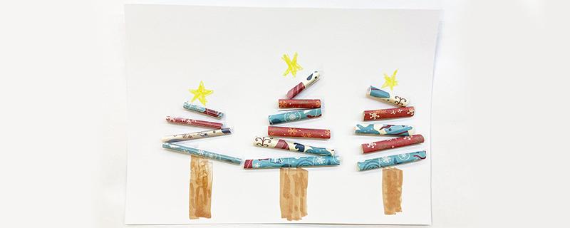 吸管手工圣诞树的做法