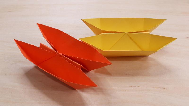 纸船怎么折