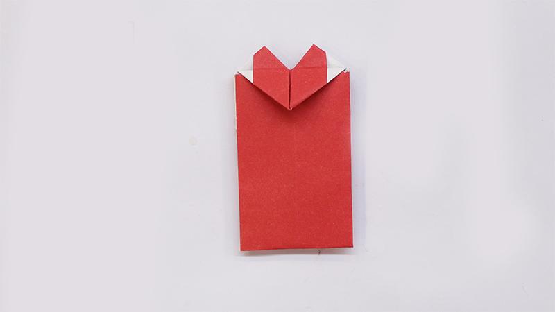 简单爱心信封的折法